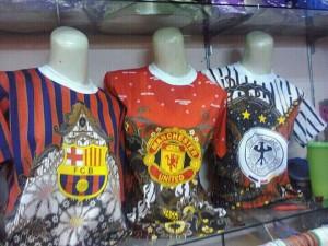 Jual Kaos Batik Bola Murah di Pekanbaru