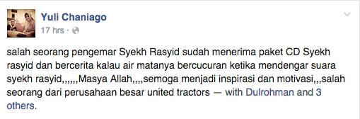 Testimonial CD Murottal Syekh Rasyid