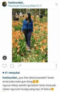 Kumpulan Gambar Meme Hesti Sundari di Kebun Bunga Amaryllis