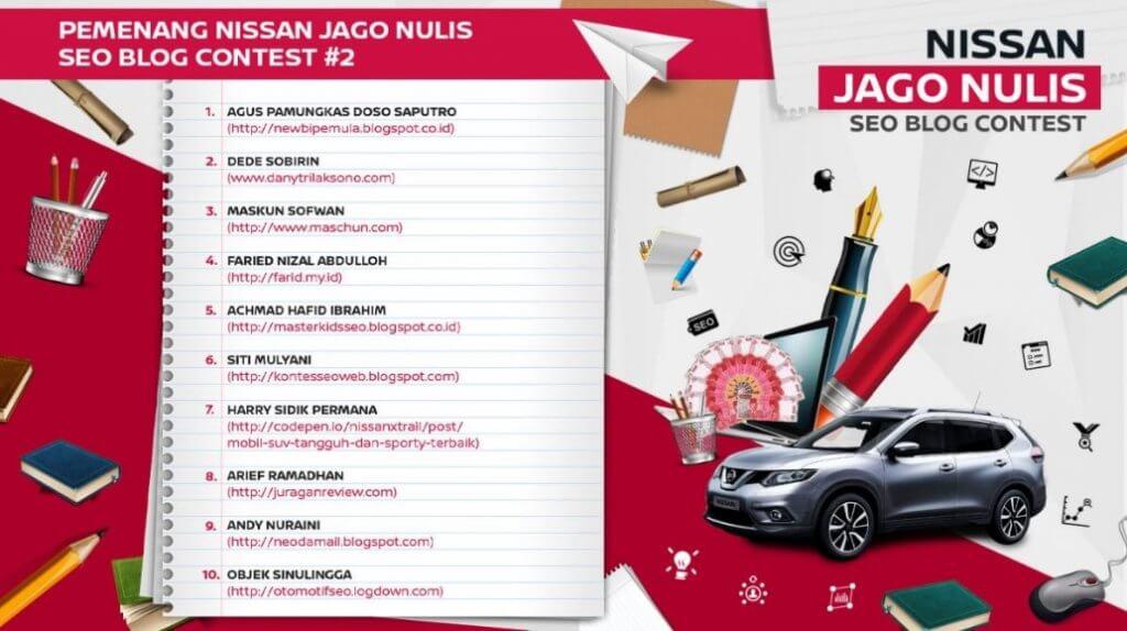 Kontes SEO Jago Nulis Nissan