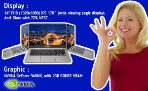 ASUS ZenBook UX410UQ - Display dan Graphic
