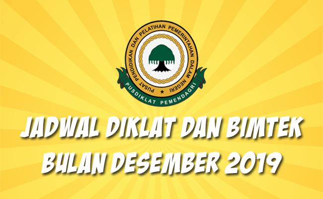 Jadwal Bimtek Pemendagri Desember 2019