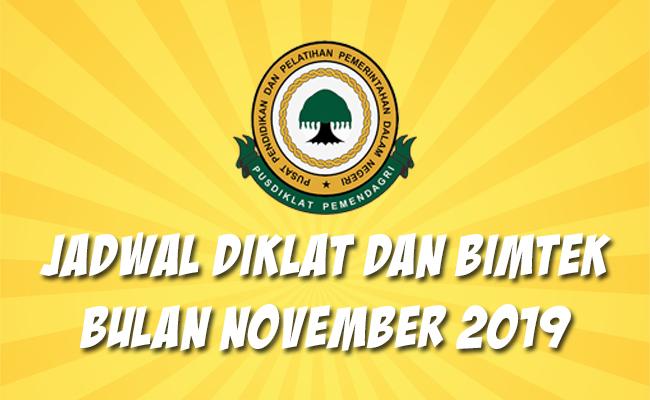 Jadwal Bimtek Pemendagri November 2019