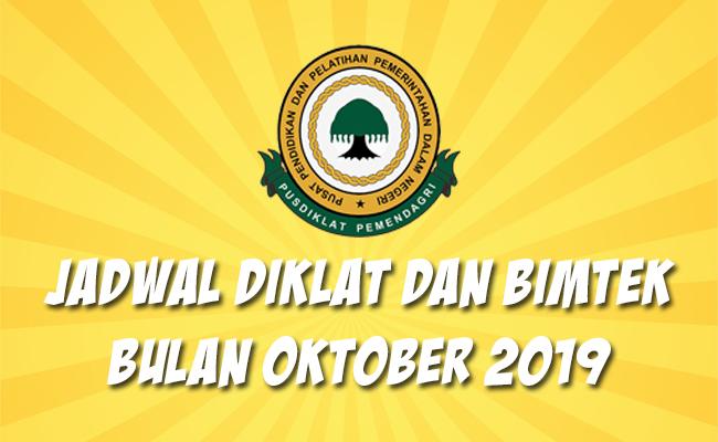 Jadwal Bimtek Pemendagri Oktober 2019