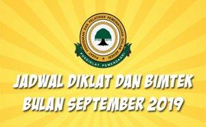 Jadwal Bimtek Pemendagri September 2019