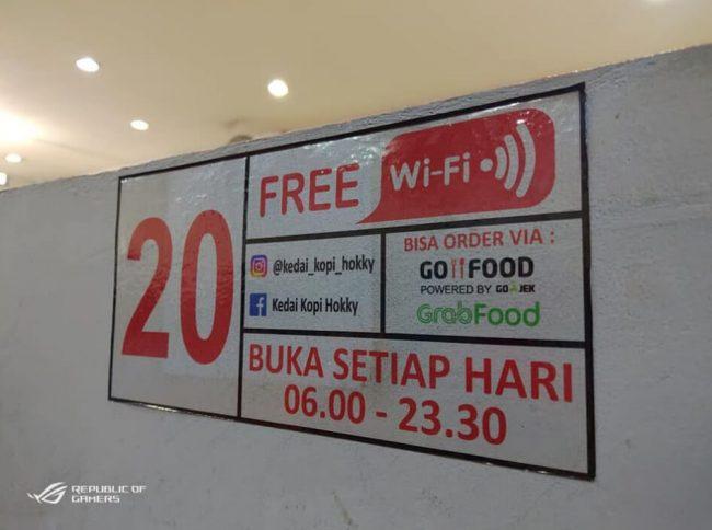 Free WiFi di Kedai Kopi Hokky Panam