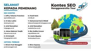 Kontes SEO Ranggawarsita Tour
