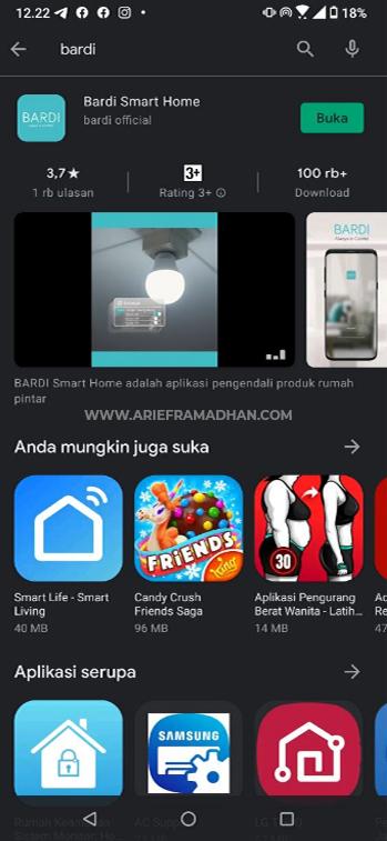 Install Aplikasi BARDI Smart Home