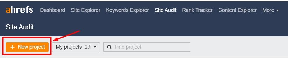 New Project Site Audit