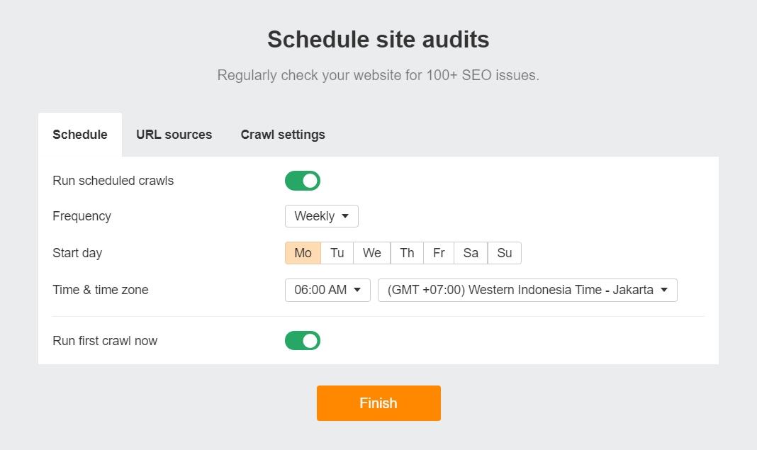 Schedule site audits
